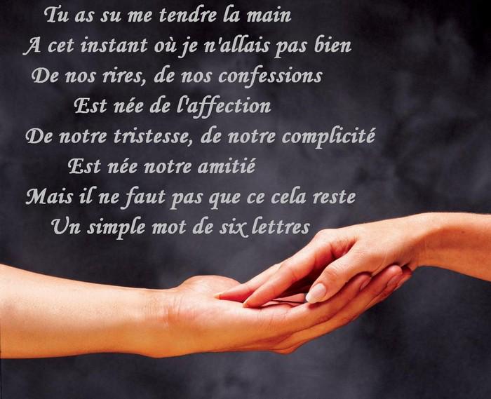 Poeme Pour Amie En Or Texte D Amitie Sms Message Poeme Et