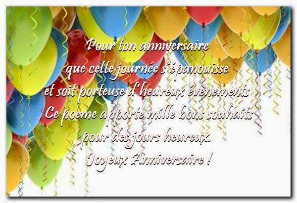 Magnifique souhait d'anniversaire