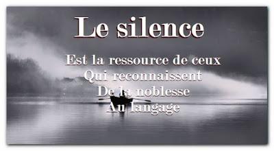 Citation d'amitié sur le silence